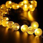 lumineuse solaire Globe clair, gdealer 30 LED boule de cristal LED Guirlande lumineuse Guirlande lumineuse d'extérieur étanche à énergie solaire Globe pour jardin extérieur, jardin, maison, paysage, Halloween Fête de Noël de la marque image 4 produit