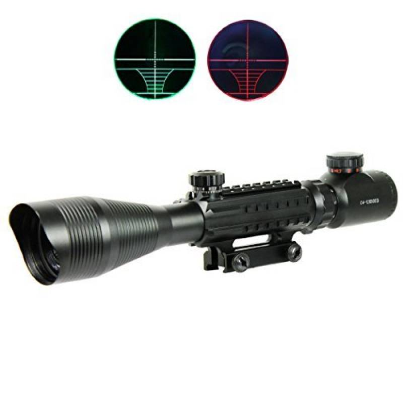 Beileshi 2.5-10x40 Lunette de Visée Laser Rouge Double Lumineux Mil-Dot W//