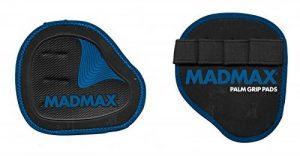Madmax Unisexe 1paire Palm Grip Pads, Noir/bleu, Taille unique de la marque image 0 produit