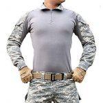 Magcomsen Hommes Tactique Militaire Airsoft Combat T-shirt Longue Mancheavec Fermeture éclair de la marque image 4 produit