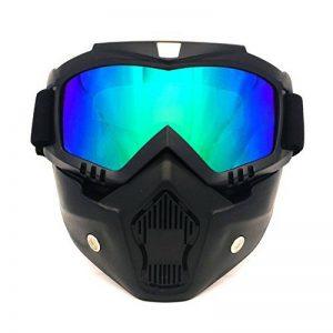 Marque de lunettes de moto de motocross, lunettes de moto de Spohife montant des lunettes protectrices de masque de visage modulaire détachable, coupe-vent, protection UV400 de la marque image 0 produit