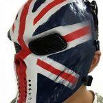 Masque de protection CS Masque de squelette crâne complet Airsoft Paintball de Airsoft drapeau de l'Union de la marque image 3 produit