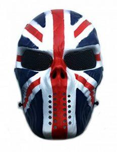 Masque de protection CS Masque de squelette crâne complet Airsoft Paintball de Airsoft drapeau de l'Union de la marque image 0 produit
