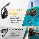 Masque Snorkel Intégral – Masque de Plongée – Respirez avec votre Nez & Bouche – Sans Étouffements, Amélioration de la Sécurité & de Confort, avec sa Taille Ajustée – Visière Incassable de la marque image 3 produit