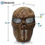 Masque squelette Stargoods–Maille métallique pour Paintball, BB Gun et CS Games de la marque image 1 produit