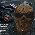 Masque squelette Stargoods–Maille métallique pour Paintball, BB Gun et CS Games de la marque image 6 produit