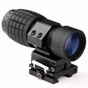 MAYMOC 3 X loupe de vue portée avec Flip à côté 20mm montage sur Rail Weaver, Quick Detach FTS de la marque image 0 produit