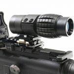 MAYMOC 3 X loupe de vue portée avec Flip à côté 20mm montage sur Rail Weaver, Quick Detach FTS de la marque image 6 produit