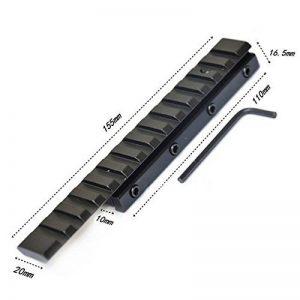Merssavo Tactique Base Montage 11mm à 20mm Weaver Rail Adaptateur Noir de la marque image 0 produit