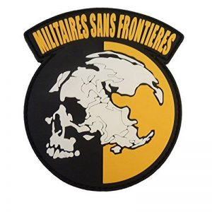 Militaires Sans Frontieres Metal Gear Solid Peace Walker PVC Gomme 3D Attache-boucle Écusson Patch de la marque image 0 produit