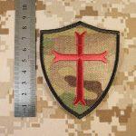 Multicam Crusaders Templar Cross US Marine Navy Seals DEVGRU Embroidered Attache-boucle Écusson Patch de la marque image 3 produit