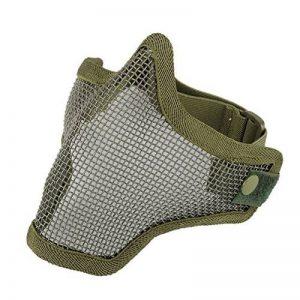 Often(TM) Half Face Métal Mesh Net Masque de protection extérieure Airsoft Vert d'armée de la marque image 0 produit