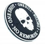 One Shot One Kill No Remorse I Decide Sniper Noir PVC Airsoft Patch de la marque image 1 produit
