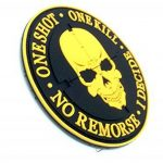 One Shot One Kill No Remorse I Decide Sniper Orange PVC Airsoft Patch de la marque image 1 produit