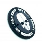 One Shot One Kill No Remorse I Decide Sniper PVC Airsoft Patch de la marque image 1 produit