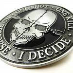 One Shot One Kill No Remorse Sniper Skull-Boucle de ceinture en métal de la marque image 2 produit