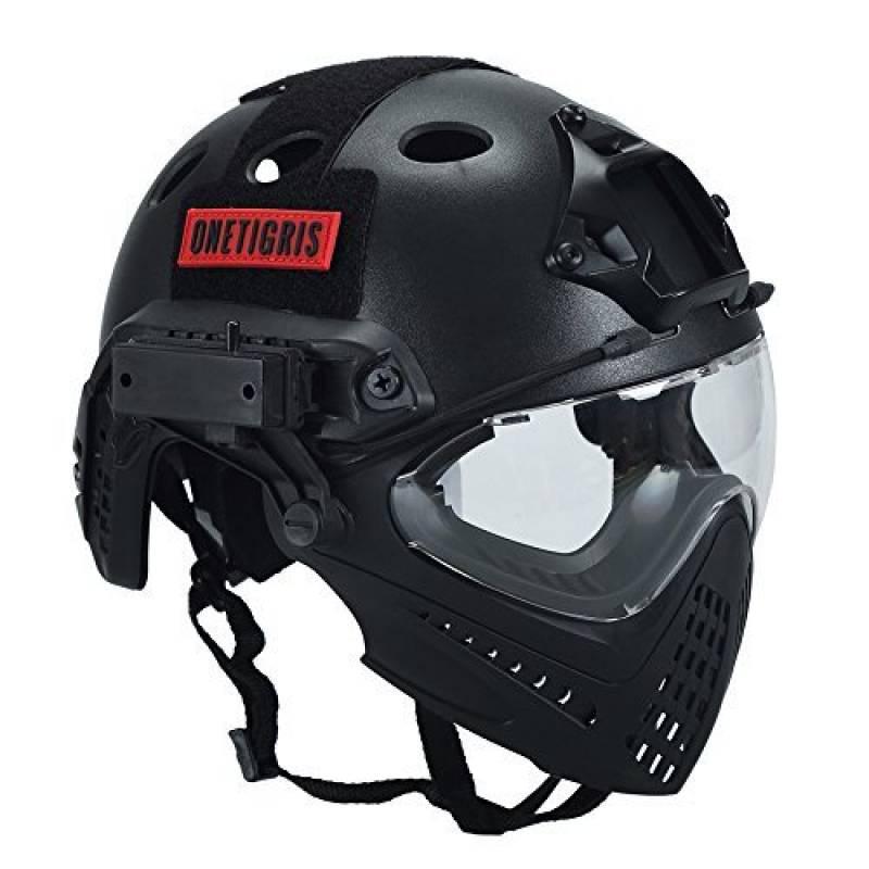 Noir OneTigris Helmet Casque Airsoft Mixte Taille Unique