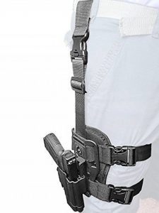 ORPAZ Defense Dropleg Thigh rig platform + tactique Active Rétention sécurité Holster avec Thumb release, rotation étui pour Jericho 941 Baby Eagle Polymer Frame de la marque image 0 produit