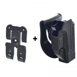 ORPAZ Defense tactique Active Rétention Holster caché portez ROTO rotation Paddle / ceinture étui + Attache Molle pour Glock 17/19/22/23/25/26/27/31/32/34/35 pistolet de la marque image 0 produit