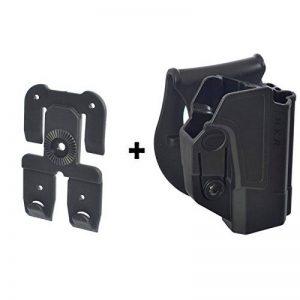 ORPAZ Defense tactique Active Rétention Holster caché portez ROTO rotation Paddle / ceinture étui + Attache Molle pour Heckler & Koch H&K USP 45, USP 9mm and USP 45 (Full Size Only) pistolet de la marque image 0 produit