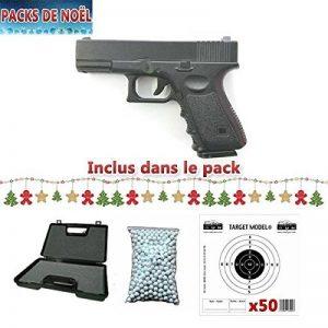 Pack De Noel Airsoft Galaxy G15 Type Glock 19 Spring / Rechargement Manuel Mallette, Billes et 50 cible Cadeaux (0.4 joule) … de la marque image 0 produit
