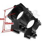 Paire de montage pour lunettes de visée / Diamètre : ø 30mm / Hauteur : 50mm / Pour rails de prismes 11-13mm / En aluminium très dure de la marque image 3 produit