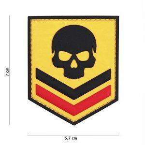 Patch 3D PVC Bouclier Belgique Skull Jaune / Cosplay / Airsoft / Camouflage de la marque image 0 produit