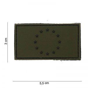 """Patch 3D PVC Drapeau """"Europe"""" Vert / Cosplay / Airsoft / Camouflage de la marque image 0 produit"""