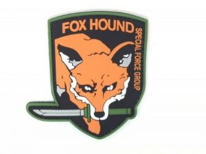 Patch Airsoft Fox Hound Special Force Group Metal Gear Solid de la marque image 0 produit