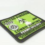"""Patch PVC pour Vêtement Airsoft Attache """"United Kingdom Zombie Hunting Permit"""" Vert de la marque image 1 produit"""