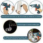 Pistolet à Colle Professionel 100W Armes Chaude avec 20 pcs 200mm Bâtonnets de Colle WEINAS® Haute Température DIY Artisanat de la marque image 3 produit