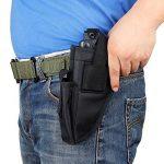 Pistolet Holster tactique de pistolet Glock 1719212327404243.380Sig P3201911Ruger 9mm Taurus Beretta Compact M & P Shield Ceinture militaire de transport universel gauche droite interchangeable avec poche pour chargeur de la marque image 2 produit