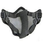Pixnor CM01 Metal Mesh demi visage masque masque de protection avec bandeau pour les Sports de plein air de chasse tactique (vert armée) de la marque image 2 produit