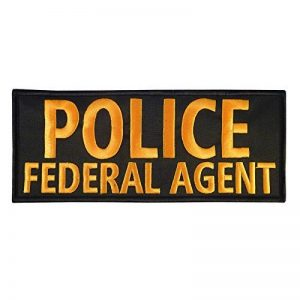 POLICE FEDERAL AGENT Large XL 10x4 inch SWAT Tactical Brodé Broderie Touch Fastener Écusson Patch de la marque image 0 produit