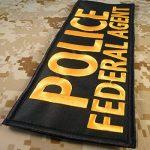 POLICE FEDERAL AGENT Large XL 10x4 inch SWAT Tactical Brodé Broderie Touch Fastener Écusson Patch de la marque image 2 produit