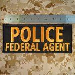 POLICE FEDERAL AGENT Large XL 10x4 inch SWAT Tactical Brodé Broderie Touch Fastener Écusson Patch de la marque image 3 produit