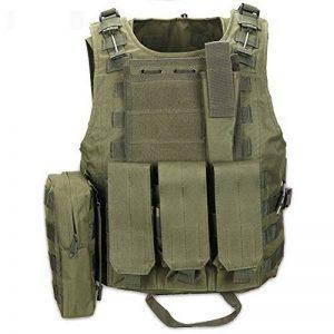 QIMAOO Gilet Tactique Homme Militaire Champ Combat Camping Randonnée Entainement à l'extérieur Jeu de guerre et Chasse de la marque image 0 produit