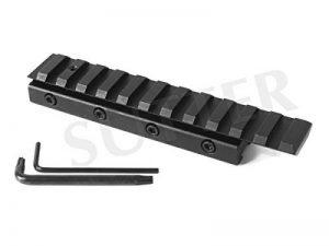 Rails de montage Adaptateur de hauteur coudé l=120mm, 11-13mm sur 21mm - Montage pour lunettes de visée de la marque image 0 produit