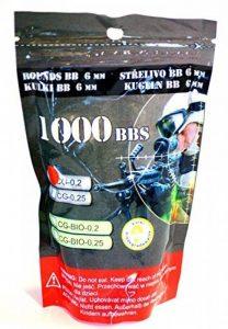 SACHET DE 1000 BILLES BLANCHES 0.20 G CALIBRE 6 MM P&J GUNS PRENIUM 899452 PISTOLET FUSIL AIRSOFT de la marque image 0 produit