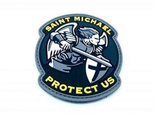 Saint Michael Protect Us Crusader Bleu PVC Airsoft Moral Patch de la marque image 0 produit