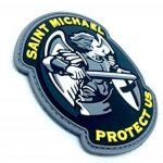 Saint Michael Protect Us Crusader Bleu PVC Airsoft Moral Patch de la marque image 1 produit