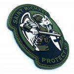 Saint Michael Protect Us Crusader Vert PVC Airsoft Moral Patch de la marque image 1 produit