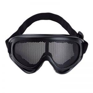 Sijueam® Masque Grillagé Airsoft Lunettes de Tir Anti-buée métal Protection  des Yeux pour CS Pistolet Guerre Jeux Bataille Paintball Chasse Cyclisme ... ccd215bcb315