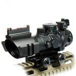 Spike Lunettes de visée Tactical Rifle 4X32 W Portée / Tri-Illuminated Chevron réticule fibre optique Sight Rifle Scope / Airsoft Gun Chasse de la marque image 2 produit