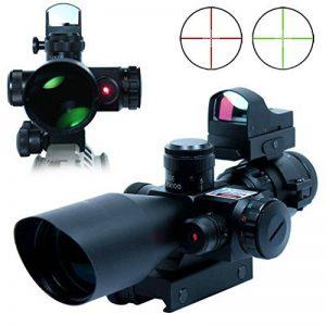Spike Lunettes de visée Fusil tactique 2.5-10X40 Portée w / Laser Rouge et Mini Reflex 3 MOA Red Dot Sight Combo Airsoft Gun Arme Sight Chasse de la marque image 0 produit