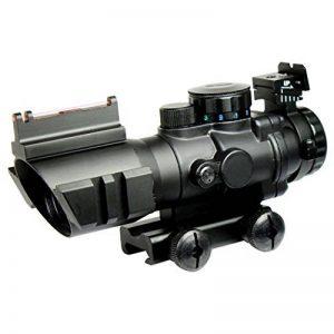 Spike Lunettes de visée Tactical Rifle 4X32 W Portée / Tri-Illuminated Chevron réticule fibre optique Sight Rifle Scope / Airsoft Gun Chasse de la marque image 0 produit