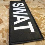 SWAT Large XL 10x4 inch POLICE Blue Line Law Enforcement Tactical Fastener Écusson Patch de la marque image 2 produit
