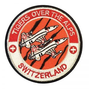 Swiss Air Forces Tigers Over the Alps Northrop F-5 Tiger Touch Fastener Écusson Patch de la marque image 0 produit
