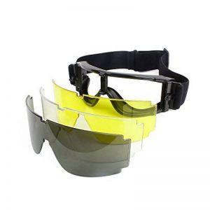 Tactical Airsoft Goggle Hunting Military Paintball Lunettes de protection anti-poussière de vent 3 lentilles Outdoor Sunglass de randonnée de la marque image 0 produit