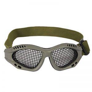 Tactical Military Metal Mesh Goggles Lunettes de tir Masque Airsoft Pour CS Shooting Casque de Chasse Lunettes de Protection (Olive) de la marque image 0 produit
